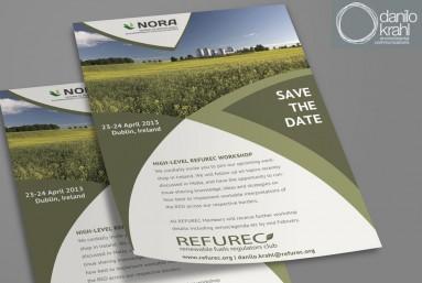 Bioenergy workshop in Ireland - invitation flyer design
